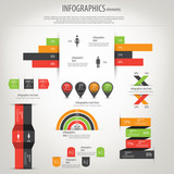 Retro infographics set. World Map and Information Graphics. Vect