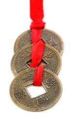Three Chinese coins.