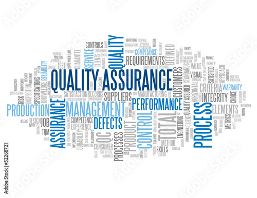 """QUALITY ASSURANCE"" Tag Cloud (total quality management tqm)"