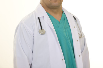 Close up of doctors uniform
