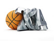 basketball ball 2014 on a white background