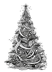graphic xmas tree