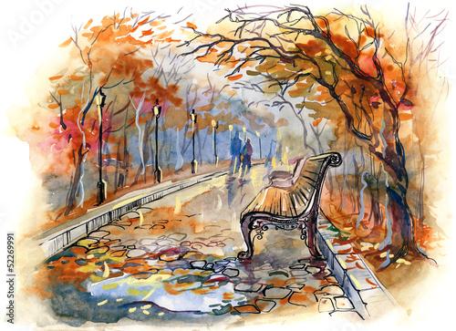 autumn park - 52269991