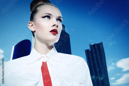 blue sky girl