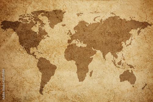 World map texture background