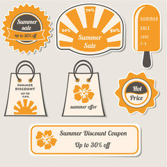 Summer Sale Discount Labels