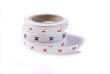 fabric size tags printed on white cotton ribbon
