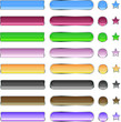 Color Web Icon Set Vector