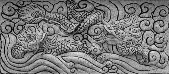 stone carve dragon