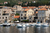 Komiza, fisherman port on the southwest of Vis island in Croatia