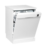 Freestanding dishwasher isolated with clipping path.