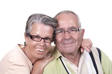 Portrait du couple âgé heureux
