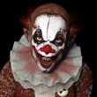 Leinwanddruck Bild - Scarier Clown 1