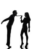 couple woman seductress bonding concept  silhouette poster
