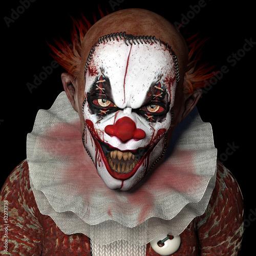 Leinwanddruck Bild Scarier Clown 1