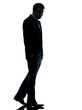 business man sad full length  silhouette