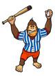 Monkey baseball player
