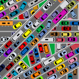 Traffic congestion on roads poster