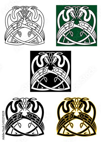 Plakat Tatuaż Celtycki Ptak Dziedzictwo Pixteria