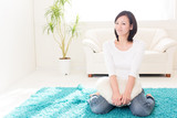 beautiful asian woman relaxing