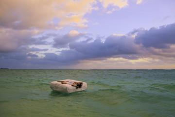 woman in bed adrift