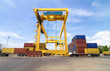 Trading port cranes and container storage with truck