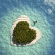Heart Island with boat
