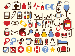50+ Medical and Healthcare Icon - Vector File EPS10