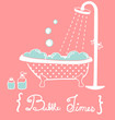 Vintage Bathtub- Vector File EPS10