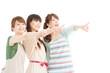 Beautiful asian women isolated on white background