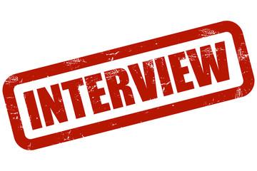 Grunge Stempel rot INTERVIEW