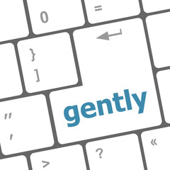 gently word on computer pc keyboard key
