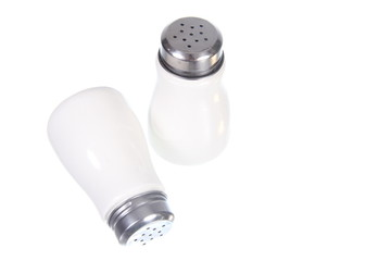 saltshaker on white background