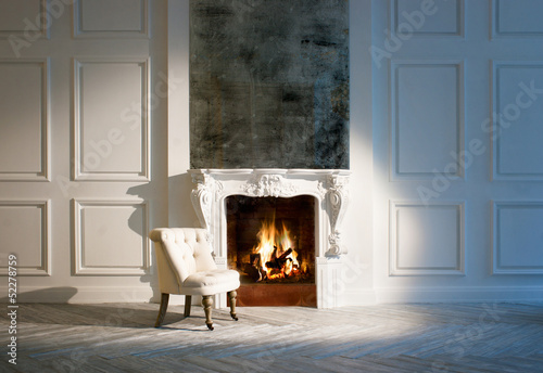 fototapete fireplace. Black Bedroom Furniture Sets. Home Design Ideas