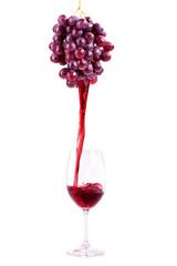 Rotwein aus frischen Trauben
