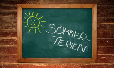 Kreidetafel - Sommerferien
