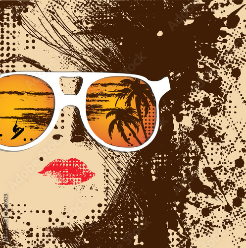 Papiers peints Visage de femme Women in sunglasses