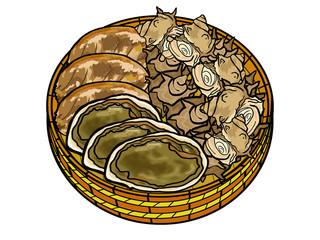 桶の中の貝類
