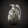 Menschliches Gehirn als Handgranate