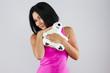 Девушка с плюшевым мишкой