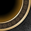 Vintage background, ornamental gold frame