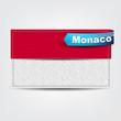 Fabric texture of the flag of Monaco