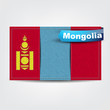 Fabric texture of the flag of Mongolia