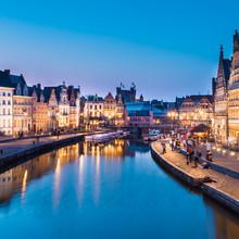 Lys rive à Gand, en Belgique, en Europe.