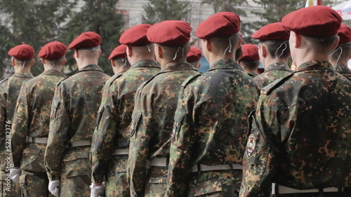 March-past soldiers