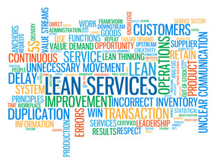 """LEAN SERVICES"" Tag Cloud (process strategy quality management)"