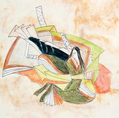 stylized image of Japanese woman