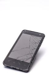 Defektes Display bei Mobiltelefon - Glas gesprungen