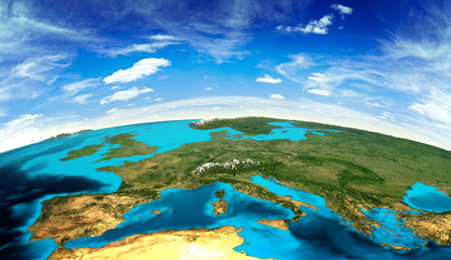 Europe landscape from space