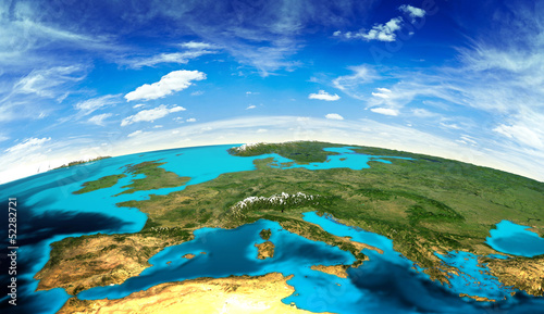 canvas print picture Europe landscape from space